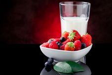 Free Milk And Berries Stock Image - 19797311