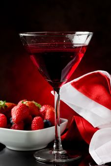 Cocktail With Berries Stock Images