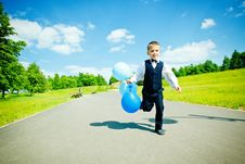 Young Boy Moving Stock Image