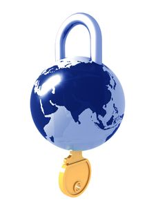 Free Planet The Earth As A Lock Stock Photography - 19798282