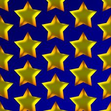 Free Golden Stars Royalty Free Stock Photography - 19798707