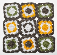 Knitted Color Pattern Stock Photos