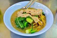 Asian Style Noodle With Pork Royalty Free Stock Photos