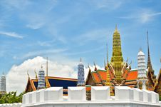 Golden Buddha Temple In Grand Palace Stock Photo