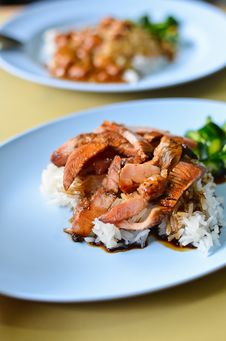 Teriyaki Pork Rice Stock Image