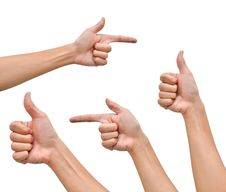 Free Variety Of Hands In Different Poses Stock Photo - 19799630