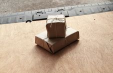 Free Two Parcels Waiting For Delivery Stock Images - 19799914