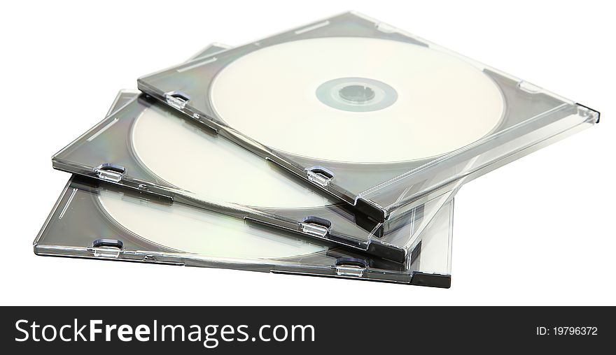 CD Jewel Cases Stacked On Each Other