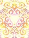 Free Gold Pink Artsy Swirls Pattern Royalty Free Stock Photography - 1983157