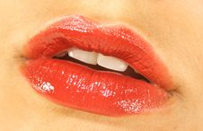 Juicy Red Lips Royalty Free Stock Photo