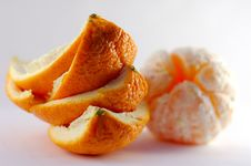 Free Orange Peel With Orange On The Background Stock Photos - 1980323