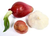 Free Garlic, Red Onion And Shallot Royalty Free Stock Images - 1981689