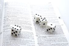 Free Dices 2 Royalty Free Stock Photo - 1982765
