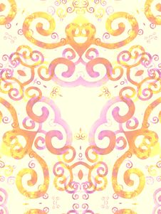 Free Gold Pink Artsy Swirls Pattern Royalty Free Stock Photography - 1983157