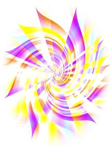Free Purple Yellow Spiral Whirlpool Royalty Free Stock Photography - 1983217