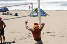 Free Male Beach Volleyball Player Stock Images - 1983444