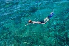 Free Boy Snorkelling In The Ocean Stock Photography - 1983492