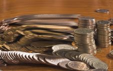 Free Coins In Movement Stock Image - 1983571
