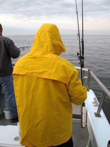Winter Headboat Fishing Royalty Free Stock Photography