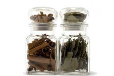Free Cinnamon And Bayleaf In Bottles Stock Photo - 1984730