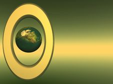 Free Frame_Earth_Gold Royalty Free Stock Photography - 1985597