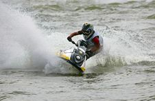 Free Man On A Jetbike Royalty Free Stock Photos - 1987078