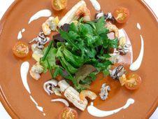 Sea Food Salad 2 Royalty Free Stock Photos