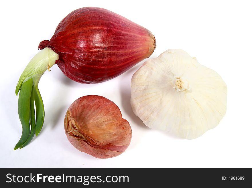 Garlic, Red Onion and Shallot
