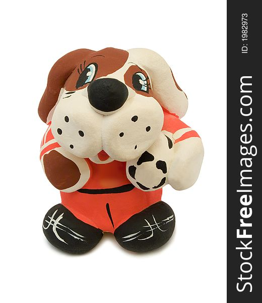 Toy Dog - soccer player with ball