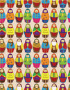 Free Seamless Russian Doll Pattern Royalty Free Stock Photography - 19802397
