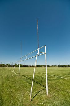 Free Goalposts On A Sports Field Royalty Free Stock Image - 19800046