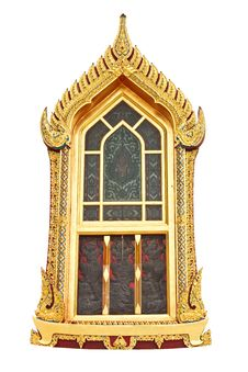 Free Traditional Thai Style Window Temple Royalty Free Stock Image - 19800276