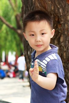 Free Asian Boy Is Doing Exercises Royalty Free Stock Photo - 19800345