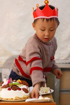 Free Asian Kid At Birthday Stock Images - 19800434