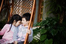 Free Couple Of Children Royalty Free Stock Image - 19800876