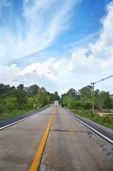 Free Road In Thailand Royalty Free Stock Photography - 19800907