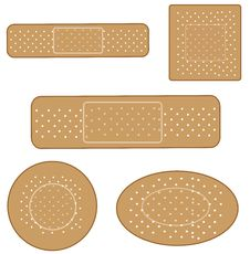 Band Aid Set Stock Photo
