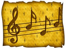 Free Treble Clef And Notes Royalty Free Stock Photography - 19802507