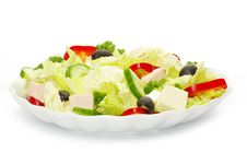 Free Salad In Plate Royalty Free Stock Photos - 19802988