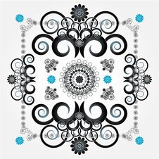 Decorative Pattern With Flower Royalty Free Stock Photography