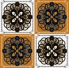 Free Pattern With Flower On Square Background Royalty Free Stock Images - 19803039