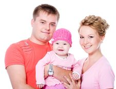 Free Happy Young Famile With Beautiful Baby Royalty Free Stock Photo - 19803065