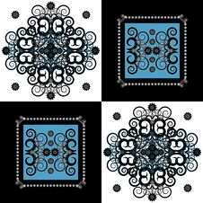 Free Pattern With Flower On Square Background Royalty Free Stock Photography - 19803107