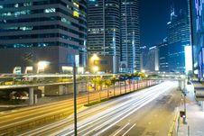 Free Modern City Traffic Night Stock Photo - 19803110