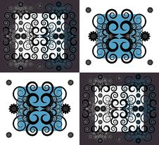 Free Pattern With Flower On Square Background Stock Image - 19803121