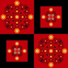 Free Flower Pattern Square Background Royalty Free Stock Photos - 19803598
