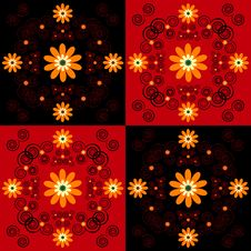 Free Flower Pattern Square Background Stock Photography - 19803622