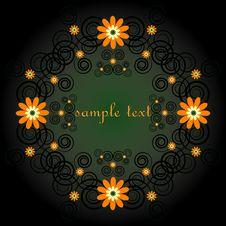 Free Decorative Framework With Flower Stock Image - 19803631