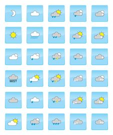 Free Weather Symbols Stock Image - 19804471