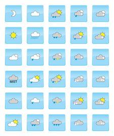 Free Weather Symbols Stock Image - 19804471